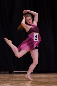Executing a turn in a lyrical competition combination.