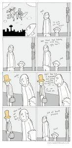 Happiness in nagativity comic